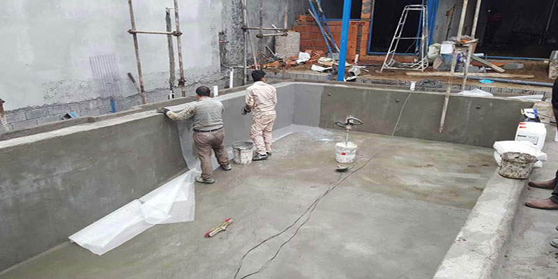 آب بندی سازه استخر
